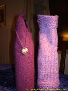 strikkeoppskrift vinflaskeholder
