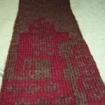 strikket dobbelt skjerf