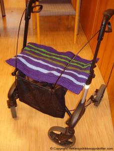 strikket teppe