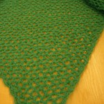 Hvordan hekle et grønt sjal for våren