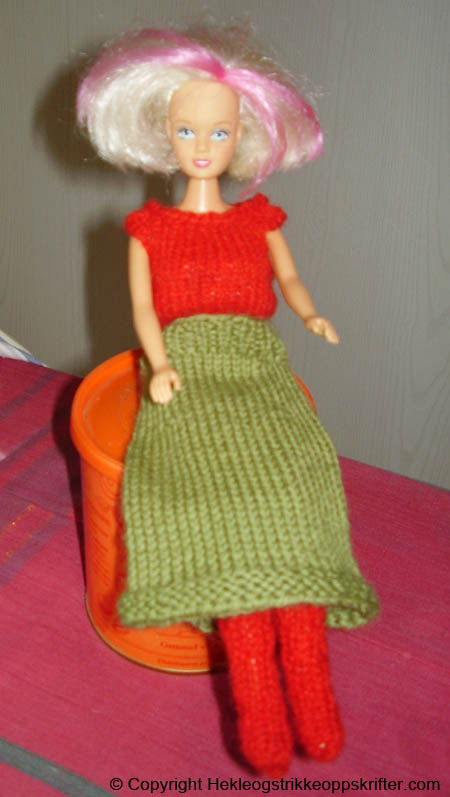strikke barbie