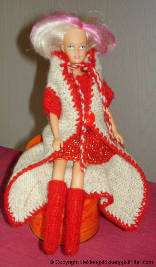 strikket frakk