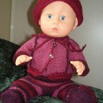 Strikke Lue, Jakke Og Bukse Til Babyborn, Dukkeklær