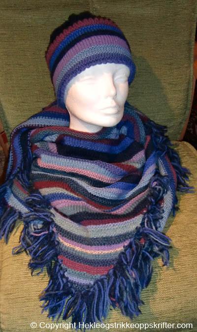 strikke sjal med lue