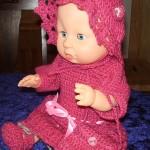 Hekle Kjole, Sokker, Veske og Pannebånd Til Babyborn Dukke