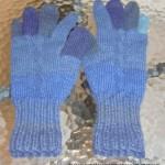 Fingervanter Med Flettemønster – Alpakka Ull