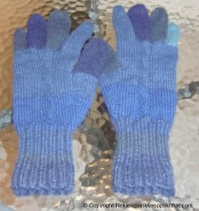 fingervanter blå