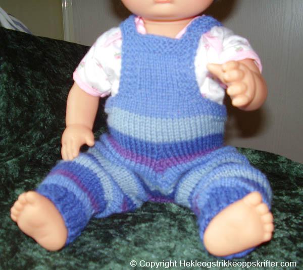 strikke dukkebukse