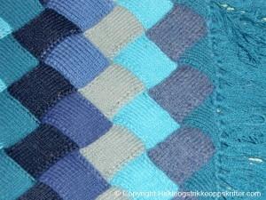 strikke sjal kontstrikk