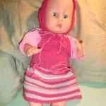 Babyborn Rosa Kjole i Bomull
