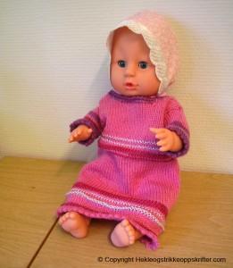 babi born strikket dukkekjole