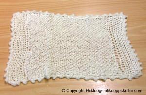 heklet og strikket babyteppe