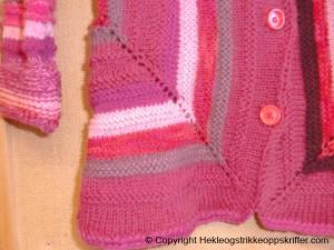 barn jakke strikking