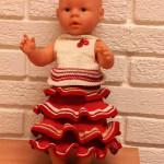 Babyborn dukke: Strikke Kappeskjørt