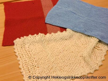 strikke-babyteppe