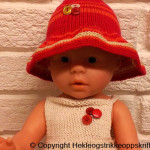 Babyborn dukke: Strikke Soltopp og Solhatt