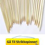 Bambus Strikkepinner – Sett Med 18 Par