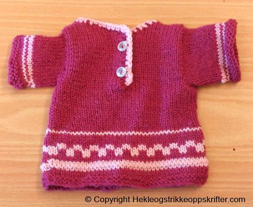 babygenser strikket rød