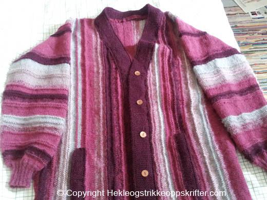 strikket jakke geitegarn