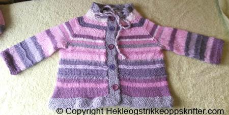 strikket babyjakke