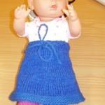 Strikke Skjørt til Baby Born Dukke