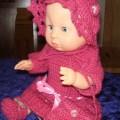 hekle rosa klær