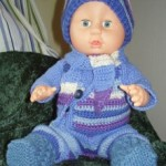 Hekle En Blå Jakke Til Babyborn Dukke
