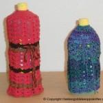 Heklet trekk til flasker med flytende oppvaskmiddel