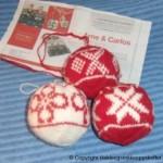 Strikke Julekuler Inspirert av Arne Og Carlos