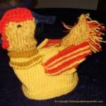 Lær å strikke påskekylling med vinger i ullgarn til påsken 2009