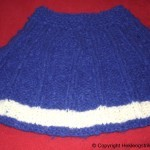 Strikke Poncho i alpakka ull – Blå