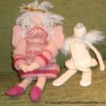 Strikket rosa engel – flott engel til julen 2011