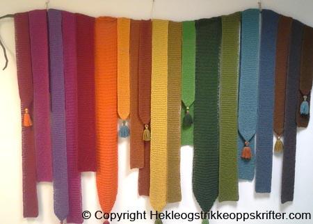 strikke teppe