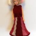 strikke barbie kjole