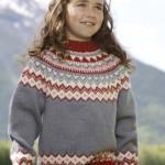 Superlekker genser med rundfelling fra Raumaull