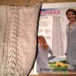 Slik strikket vi en grå bomulls jakke – Muskat fra Drops